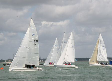 Sportboats at Cowes