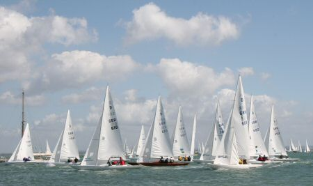 The Dragons racing upwind