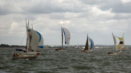 The smaller boats at Cowes