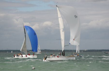 The finish - Cowes Week