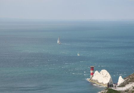 A shot of the Needles, Maximus in the background