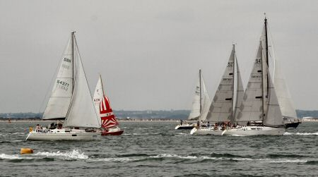 The run up the shore at Cowes