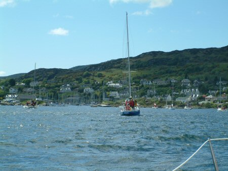 A view of the entrance to Tarbert