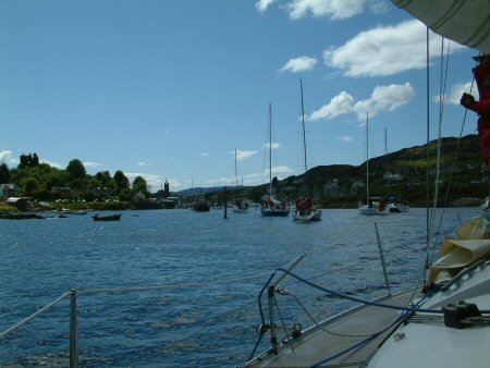 Getting in the queue for Tarbert