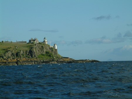 The lighthouse on the south end of Little Cumbrae