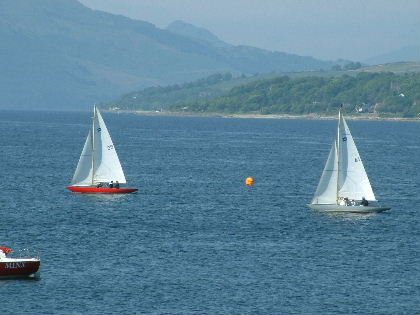 After the start, holy Loch in the background